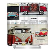 Vw Camper Collage Shower Curtain