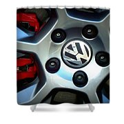 Vw Gti Wheel Shower Curtain