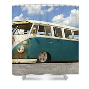 Vw Lowrider Bus Shower Curtain