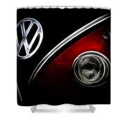 Vw Micro Bus Logo Shower Curtain