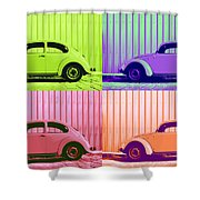 Vw Pop Spring Shower Curtain by Laura Fasulo