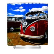 Vw Type 2 Shower Curtain