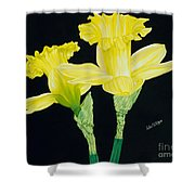 Vy And Georgie Shower Curtain