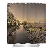 Battens Bridge Frost  Shower Curtain