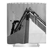 W T C 4 In Black And White Shower Curtain