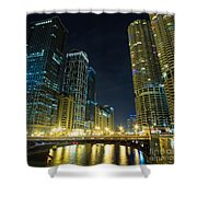 Wabash City Scape Shower Curtain