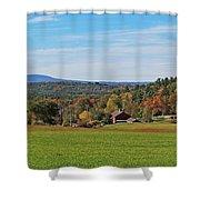 Wachusett Mountain From Harvard Ma Shower Curtain