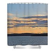 Wachusett Reservoir Sunset Shower Curtain