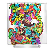 Wackadoo Shower Curtain by Chelsea Geldean