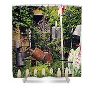 Wacky Watering Can Garden Shower Curtain