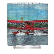 Waco Cabin Biplane Circa 1930 Shower Curtain