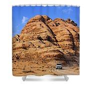 Wadi Rum In Jordan Shower Curtain by Robert Preston