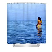 Wading In Shower Curtain