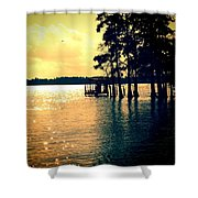 Wading Pine Shower Curtain