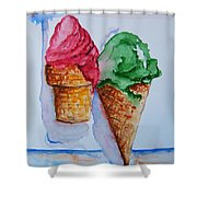 Wafer Or Waffle Cone Shower Curtain