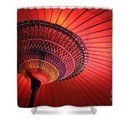 Wagasa Shower Curtain by Delphimages Photo Creations