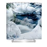 Wagner Creek In Winter Shower Curtain