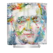 Wagner - Watercolor Portrait Shower Curtain
