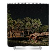 Wagon And Stars 2am 115859and115863_stacked Shower Curtain