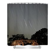 Wagon And Stars 2am 115864and115870 Stacked Image Shower Curtain