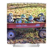 Wagon Full Of Frogs Shower Curtain