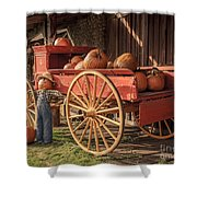 Wagon Full Of Pumpkins Shower Curtain
