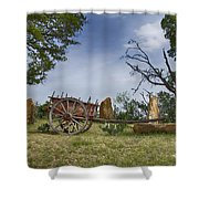 Wagon-hill Country Texas V2 Shower Curtain