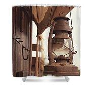 Wagon Lantern Shower Curtain