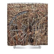 Wagon Wheel_7438 Shower Curtain