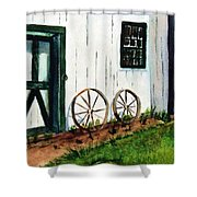 Wagon Wheels  Shower Curtain