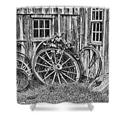 Wagons Lost Shower Curtain by Crystal Nederman