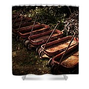 Wagons Of Yesterday Shower Curtain