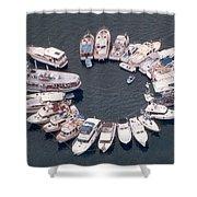 Wagonwheel Wedding Raftup Shower Curtain