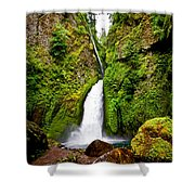 Wahclella Falls In Oregon Shower Curtain