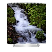 Wahkeena Falls In Oregon Shower Curtain