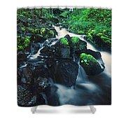 Wahkeenah Falls Columbia River Gorge Nsa Oregon Shower Curtain
