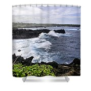 Waianapanapa Pailoa Bay Hana Maui Hawaii Shower Curtain