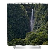 Wailua Stream Waiokane Falls View From Wailua Maui Hawaii Shower Curtain