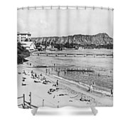 Waikiki Beach And Diamond Head Shower Curtain