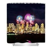 Waikiki Fireworks Celebration 2 Shower Curtain
