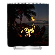 Waikiki Rumfire Shower Curtain