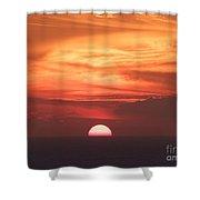 Waikiki Sunset No 3 Shower Curtain