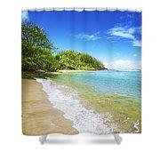Waikoko Beach Shore Shower Curtain