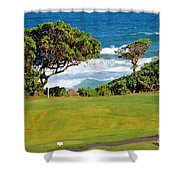 Wailua Golf Course - Hole 17 - 2 Shower Curtain