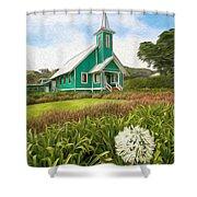 Waimea Church Shower Curtain