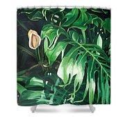 Waipeo Green Shower Curtain