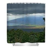 Waipoli Kula View Of West Maui From Haleakala Shower Curtain