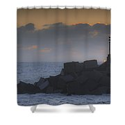 Waiting For The Sun Shower Curtain