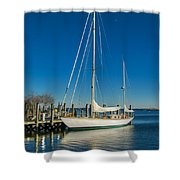 Waiting For Warmer Weather At The Dock Shower Curtain