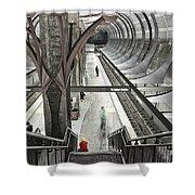 Waiting - Hollywood Subway Station. Shower Curtain